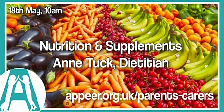 Appeer Parent/Carer Session,  Nutrition and Supplements tickets