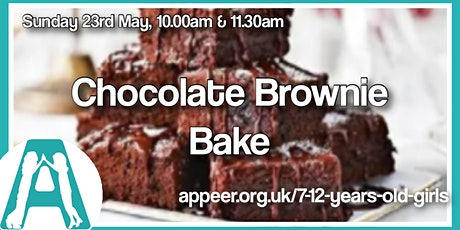 Girls Appeer Online Session - Chocolate Brownie Bake ( 7-10yrs) tickets