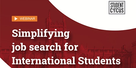 Simplifying Job Search for International Students (For QUB exclusively) tickets