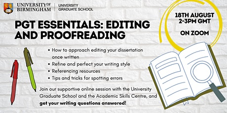 PGT Essentials: Editing and Proofreading  Your Dissertation tickets