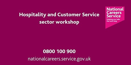 Hospitality and Customer Service sector workshop - North East tickets