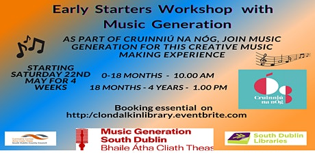 Early Years Music Workshops with Music Generation. Ages 18 Months - 4 Years tickets