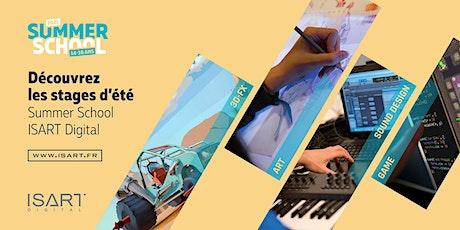 Découvrez les stages d'été Summer School ISART Digital billets