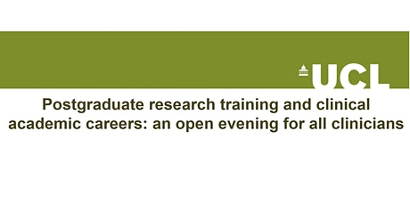 Postgraduate researchclinical academic careers open evening 2021 tickets