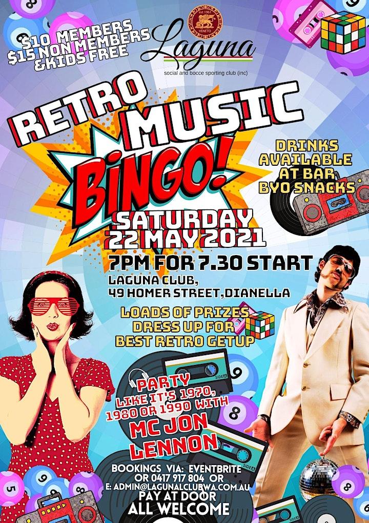 Retro Music Bingo image