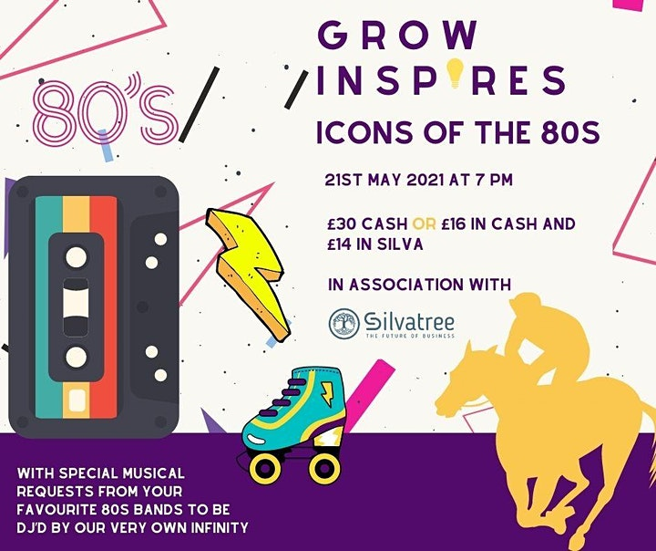 Grow Inspires (Icons of the 80's Evening) Virtual Race Night image