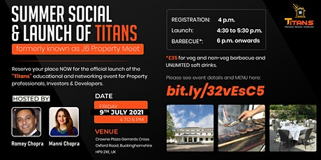 SUMMER SOCIAL & launch of TITANS (formerly known as J6 Property Meet). tickets