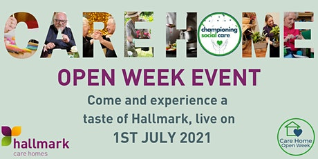 A taste of Hallmark Care Homes in association with Care Home Open Week tickets