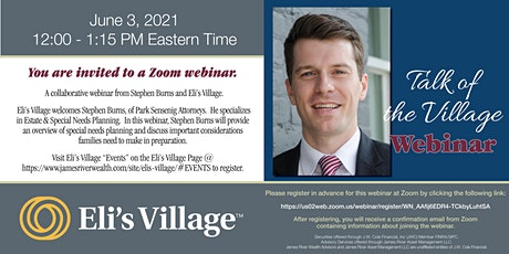 A collaborative webinar from Stephen Burns and Eli's Village. tickets