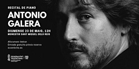 Recital de piano d'Antonio Galera entradas