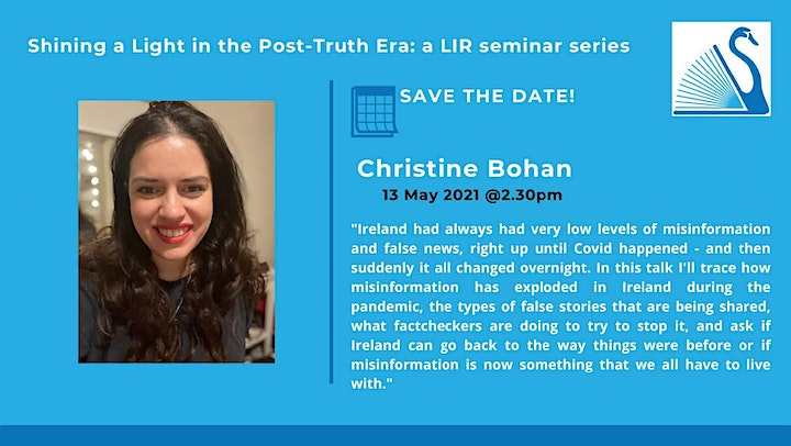 Shining a Light in the Post Truth Era - Session 3 with Christine Bohan image