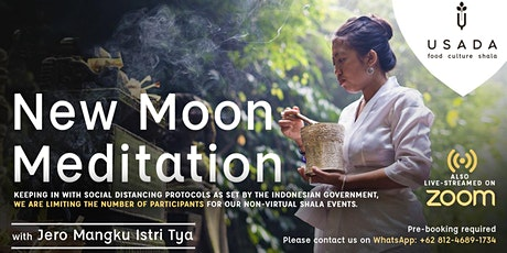 Live Streaming New Moon Meditation with Balinese Priestess Tickets