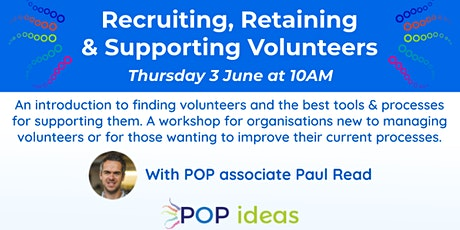 Recruiting, Retaining & Supporting Volunteers tickets