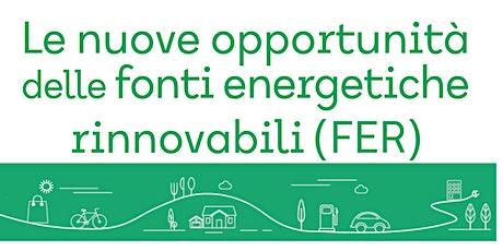 Le nuove opportunità delle fonti energetiche rinnovabili (FER) biglietti
