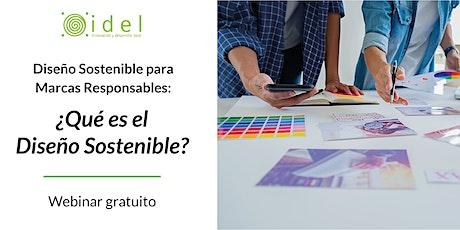¿Qué es el Diseño Sostenible? tickets