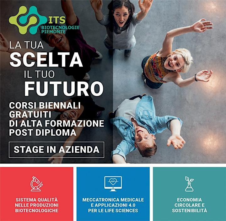 Immagine Open Day ITS Biotecnologie Piemonte - Webinar online