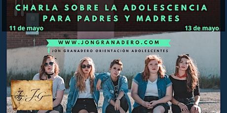 CHARLA PARA PADRES/MADRES CON HIJ@S ADOLESCENTES entradas