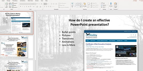 Creating Effective PowerPoint Presentations tickets