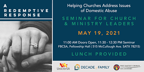 A Redemptive Response: Helping Churches Address Issues of Domestic Abuse tickets