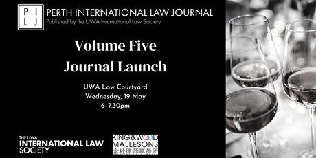 Perth International Law Journal Volume 5 Launch tickets