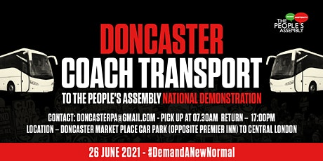 Doncaster Coach transport to People's Assembly National Demonstration tickets