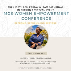 Annual MGS Women Empowerment Conference: Reframe, Refocus and Restore tickets
