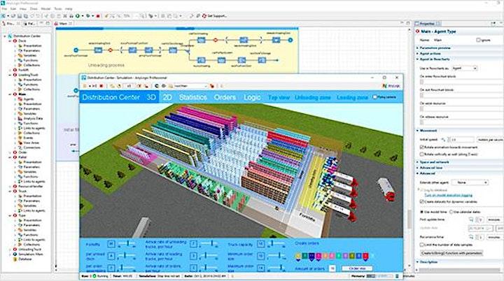Imagem do evento Introdução à Simulação de Eventos Discretos no Software AnyLogic