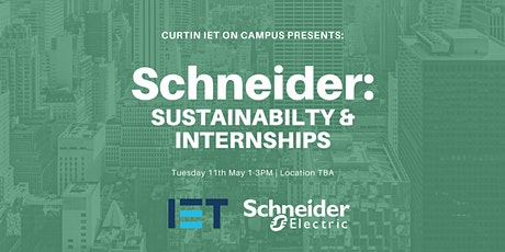Schneider: Sustainability & Internships tickets