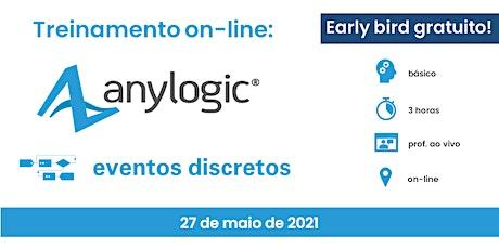 Introdução à Simulação de Eventos Discretos no Software AnyLogic ingressos