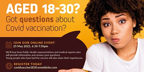 Covid-19 vaccination: an event for 18-30s tickets
