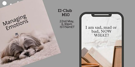 Take charge of your emotional health-EI-Club Meeting 10 tickets