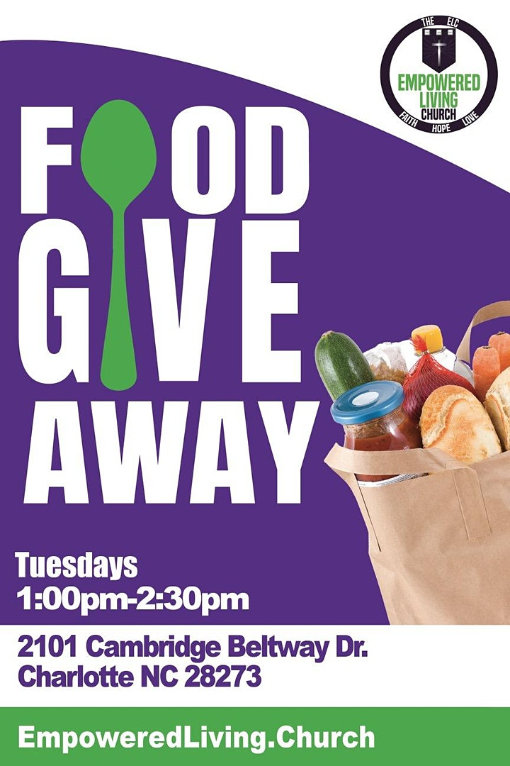 Community Free Food Giveaway at Empowered Living Church image