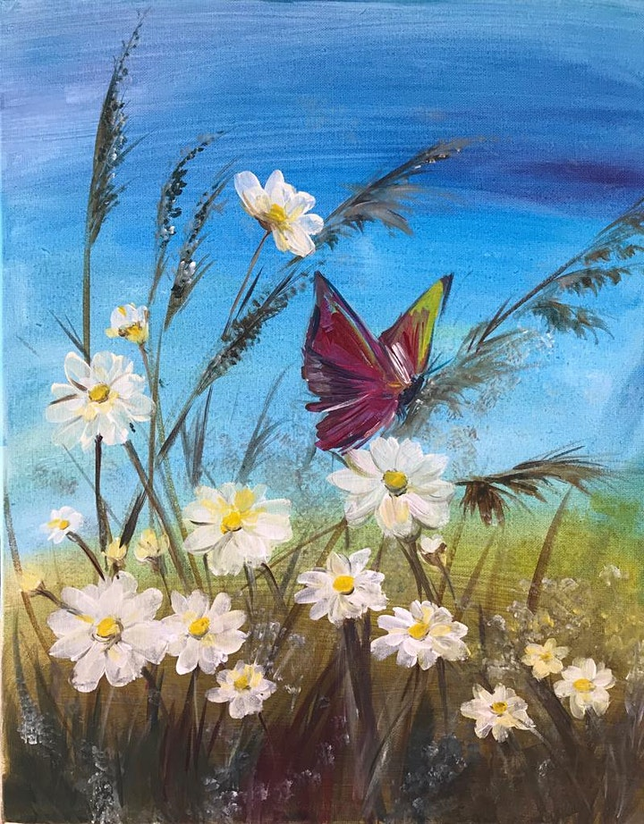 Chill & Paint Saturday Night  Auckland City Hotel  - Daisies & Butterfly! image