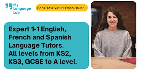 French, Spanish and English Tuition | KS2 - A level  | Virtual Open House tickets