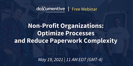 Webinar: Non-Profit Organizations Optimize Processes and Reduce Paperwork tickets