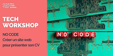 Online Tech Workshop - Créer un site web pour présenter son CV billets