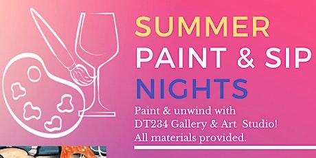 PAINT & SIP AT HARBORSIDE ATRIUM with DT234 Gallery & Art Studio tickets