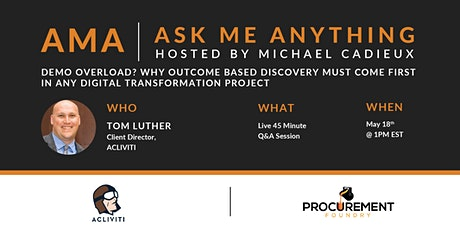 Why Outcome Based Discovery Must Come First In Any Digital Project. tickets