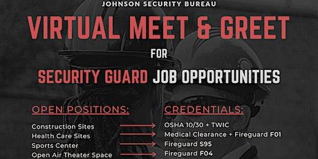 Virtual  Johnson Security Meet & Greet Career Event tickets