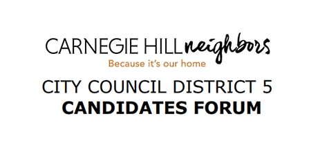 NY City Council District 5 Candidates Forum tickets