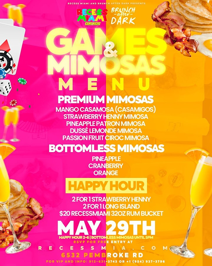 """Recess Miami Presents """"Games and Mimosas"""" Brunch & Day Party image"""