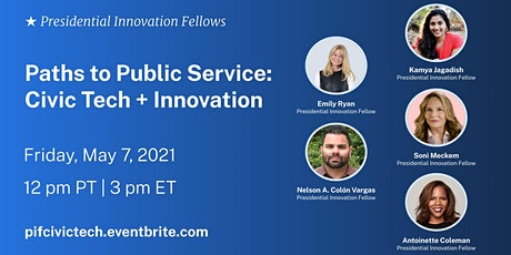 Paths to Public Service: Civic Tech and Innovation biljetter