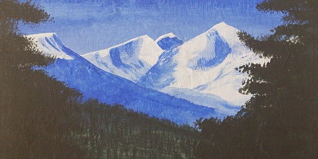 Springtime Mountain: an online paint night for Caregivers tickets