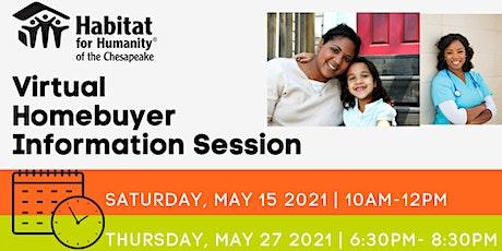 Habitat Chesapeake's Homebuyer Info Session | MAY 2021 tickets
