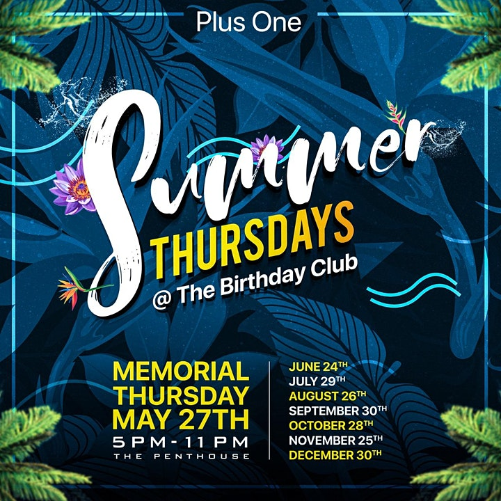 Memorial Plusone  Thursdays | Summer Penthouse Thursdays image