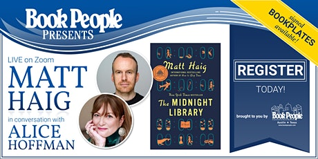 BookPeople Presents: Matt Haig and Alice Hoffman, Live on Zoom! ingressos