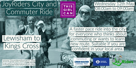 City and Commuter Ride for Women: Lewisham to King's Cross tickets
