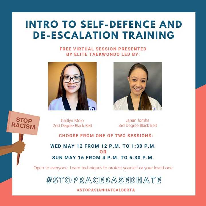 #StopRaceBasedHate - Intro to Self Defence & De-Escalation Skills (FREE) image