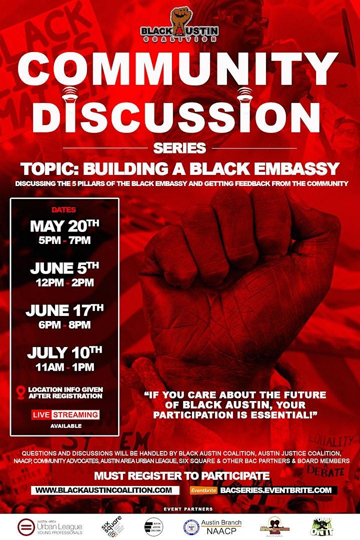 Black Austin Coalition Community Discussion Series image