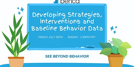 Developing Strategies, Interventions and Baseline Behavior Data (4.5hrs) tickets